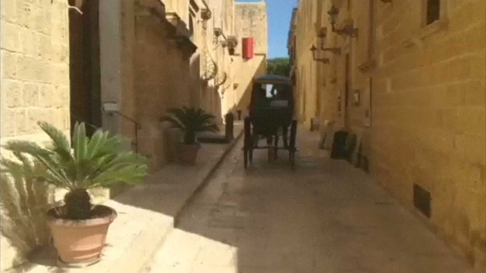 Moorish looking streets of Malta