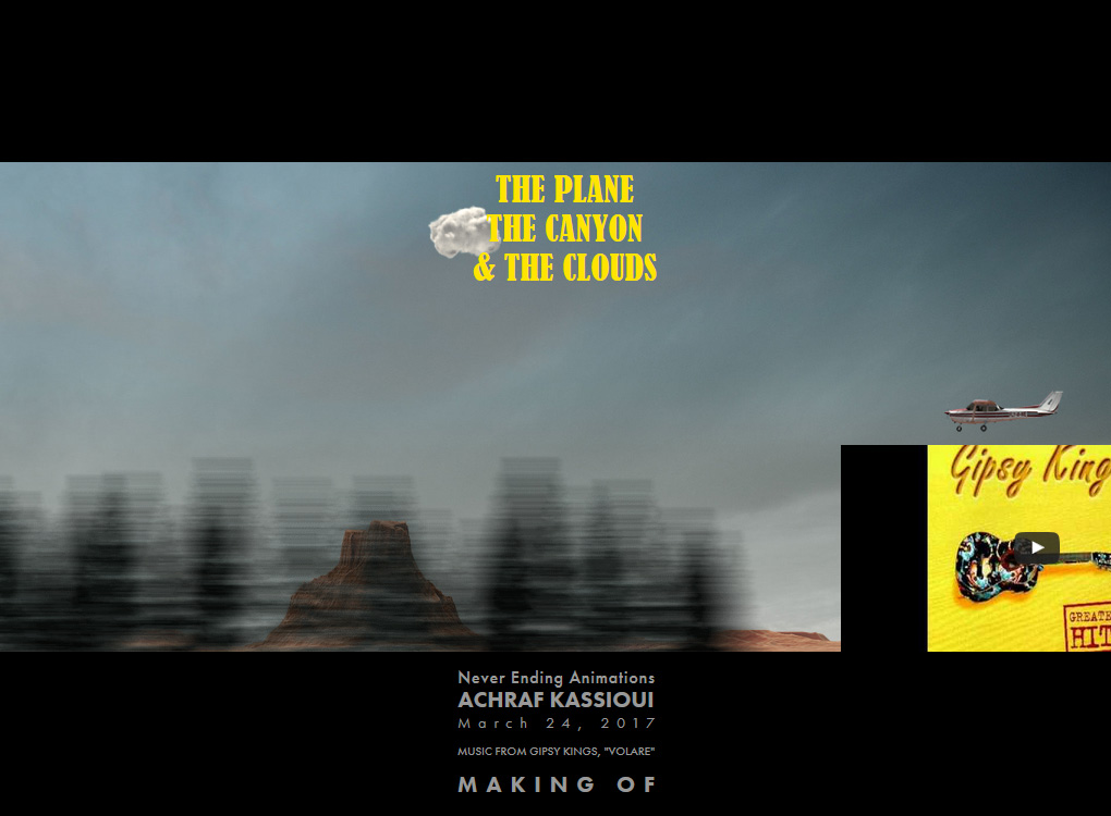 Making of The Plane, The Canyon and The Clouds